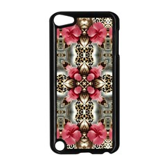 Flowers Fabric Apple Ipod Touch 5 Case (black)