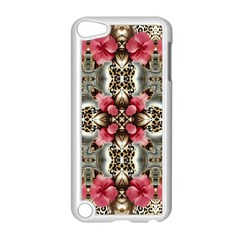 Flowers Fabric Apple Ipod Touch 5 Case (white)