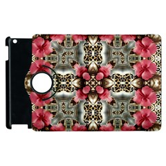 Flowers Fabric Apple Ipad 3/4 Flip 360 Case
