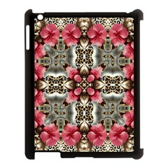 Flowers Fabric Apple Ipad 3/4 Case (black)