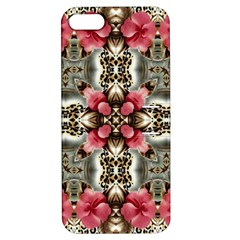 Flowers Fabric Apple Iphone 5 Hardshell Case With Stand