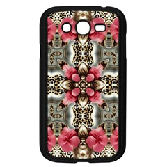 Flowers Fabric Samsung Galaxy Grand Duos I9082 Case (black)