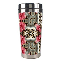Flowers Fabric Stainless Steel Travel Tumblers