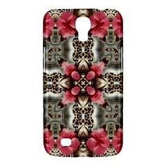 Flowers Fabric Samsung Galaxy Mega 6 3  I9200 Hardshell Case