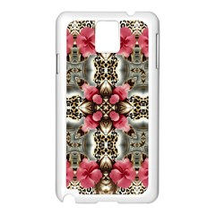 Flowers Fabric Samsung Galaxy Note 3 N9005 Case (white)