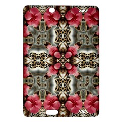 Flowers Fabric Amazon Kindle Fire Hd (2013) Hardshell Case