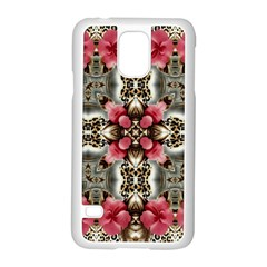 Flowers Fabric Samsung Galaxy S5 Case (White)