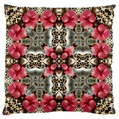 Flowers Fabric Large Flano Cushion Case (two Sides)