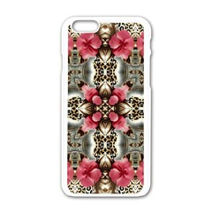 Flowers Fabric Apple Iphone 6/6s White Enamel Case