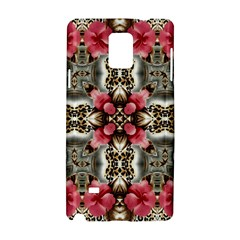Flowers Fabric Samsung Galaxy Note 4 Hardshell Case