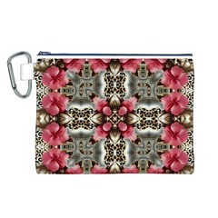 Flowers Fabric Canvas Cosmetic Bag (l)