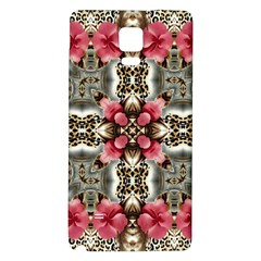 Flowers Fabric Galaxy Note 4 Back Case