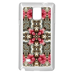 Flowers Fabric Samsung Galaxy Note 4 Case (white)