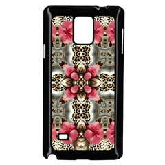 Flowers Fabric Samsung Galaxy Note 4 Case (Black)