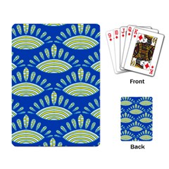 Sea Shells Blue Yellow Playing Card
