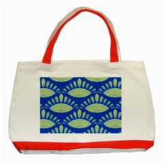 Sea Shells Blue Yellow Classic Tote Bag (Red)