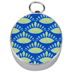 Sea Shells Blue Yellow Silver Compasses