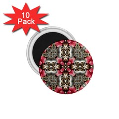 Flowers Fabric 1 75  Magnets (10 Pack)