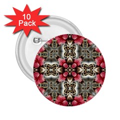 Flowers Fabric 2.25  Buttons (10 pack)