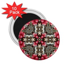 Flowers Fabric 2.25  Magnets (10 pack)