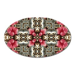 Flowers Fabric Oval Magnet