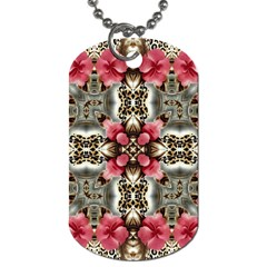 Flowers Fabric Dog Tag (two Sides)