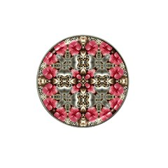 Flowers Fabric Hat Clip Ball Marker (4 Pack)