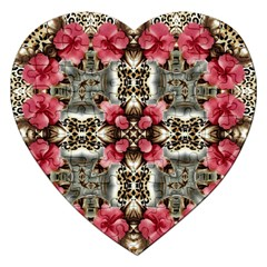 Flowers Fabric Jigsaw Puzzle (heart)