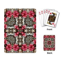 Flowers Fabric Playing Card