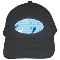 Whaling Ship Blue Sea Beach Animals Black Cap