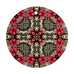 Flowers Fabric Round Ornament (two Sides)