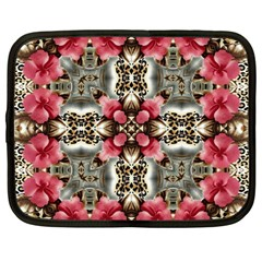Flowers Fabric Netbook Case (Large)