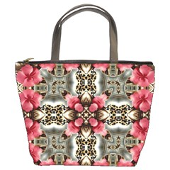 Flowers Fabric Bucket Bags