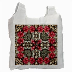 Flowers Fabric Recycle Bag (One Side)