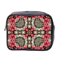 Flowers Fabric Mini Toiletries Bag 2-Side