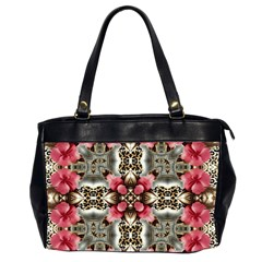 Flowers Fabric Office Handbags (2 Sides)