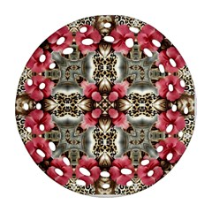 Flowers Fabric Round Filigree Ornament (two Sides)