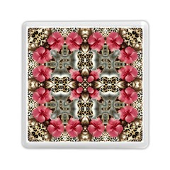 Flowers Fabric Memory Card Reader (square)