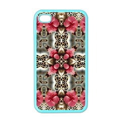 Flowers Fabric Apple Iphone 4 Case (color)