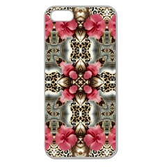 Flowers Fabric Apple Seamless Iphone 5 Case (clear)