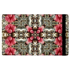 Flowers Fabric Apple Ipad 2 Flip Case