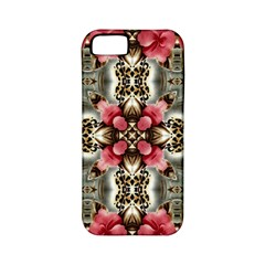 Flowers Fabric Apple Iphone 5 Classic Hardshell Case (pc+silicone)