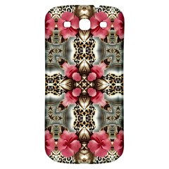 Flowers Fabric Samsung Galaxy S3 S Iii Classic Hardshell Back Case