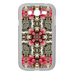 Flowers Fabric Samsung Galaxy Grand Duos I9082 Case (white)