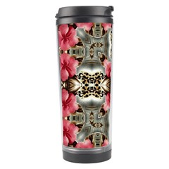 Flowers Fabric Travel Tumbler