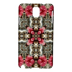 Flowers Fabric Samsung Galaxy Note 3 N9005 Hardshell Case