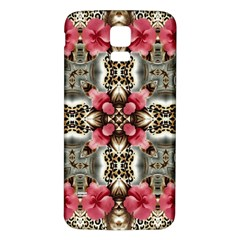 Flowers Fabric Samsung Galaxy S5 Back Case (white)