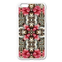 Flowers Fabric Apple iPhone 6 Plus/6S Plus Enamel White Case