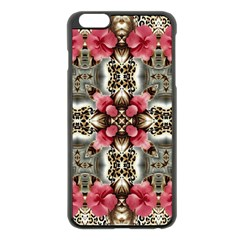 Flowers Fabric Apple Iphone 6 Plus/6s Plus Black Enamel Case