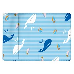 Whaling Ship Blue Sea Beach Animals Samsung Galaxy Tab 10 1  P7500 Flip Case